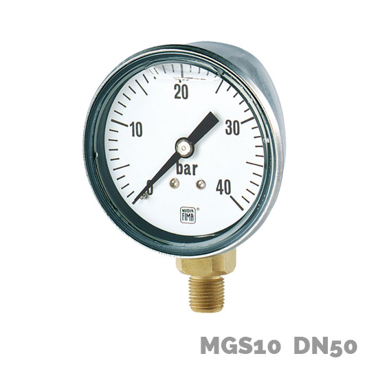 Manómetro en aleación de cobre MGS10 DN50 - Nuova Fima