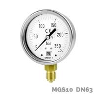 Manómetro en aleación de cobre MGS10 DN63 - Nuova Fima