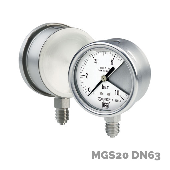 Manómetro mgs20 dn63 - Nuova Fima