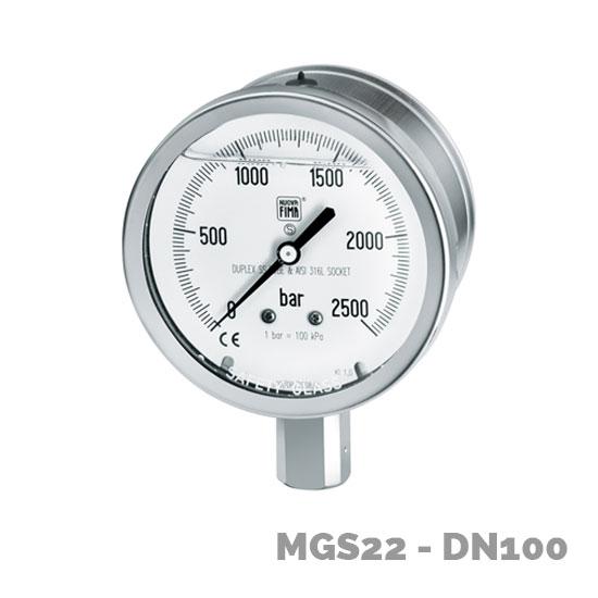 manómetro alta presión mgs22 dn100 - Nuova Fima