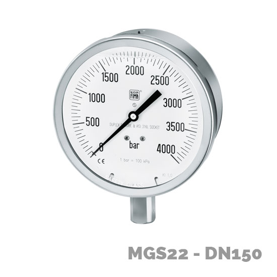 manómetro alta presión mgs22 dn150 - Nuova Fima