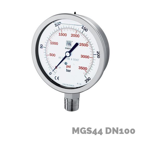 Manómetro mgs44 dn100 - Nuova Fima