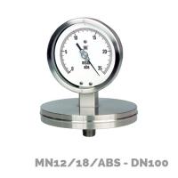 Manómetros para baja presión MN12/18/ABS DN100 - Nuova Fima