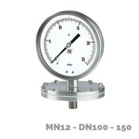 Manómetros para baja presión MN12 DN100-150 - Nuova Fima