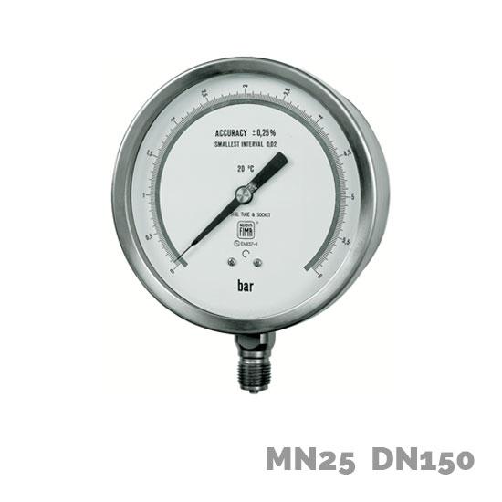 Manómetro de precisión MN25 DN150 - Nuova Fima