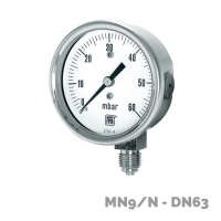 Manómetros para baja presión MN9/N DN63 - Nuova Fima