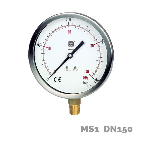 Manómetro en aleación de cobre MS1 DN150 - Nuova Fima