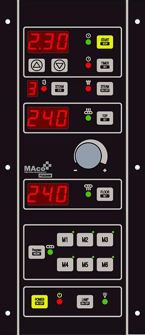 controlador para horno de panaderia FOD 1000